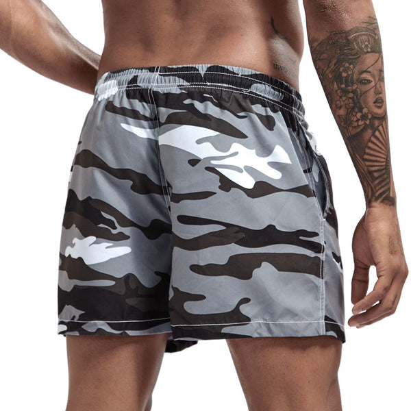 Jockmail Grey Camo Board Shorts