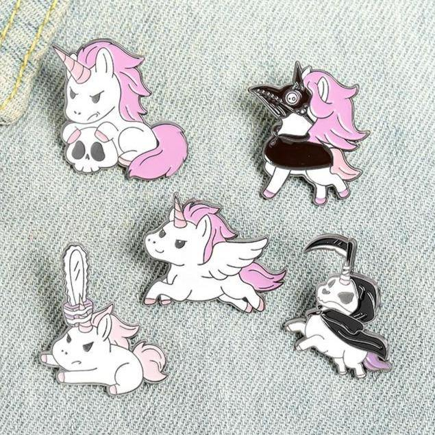 Unicorns With Attitude Enamel Pins - Queer In The World: The Store