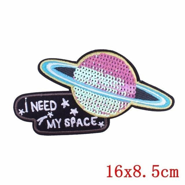 I Need My Space Iron On Embroidered Patch - Queer In The World: The Store