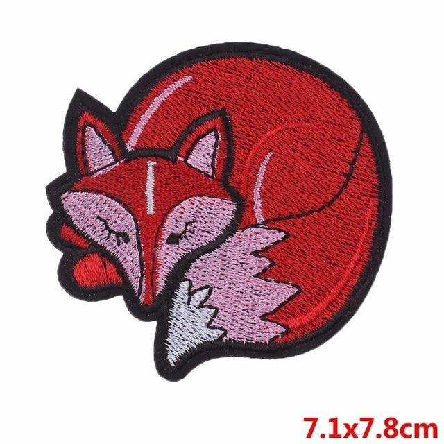 Fox Iron On Embroidered Patch - Queer In The World: The Store