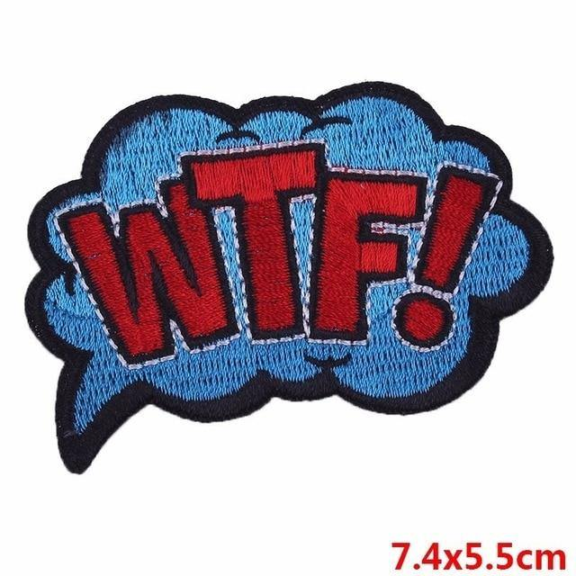 WTF! Iron On Embroidered Patch - Queer In The World: The Store