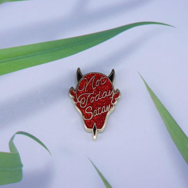 Not Today Satan Enamel Pin - Queer In The World: The Store