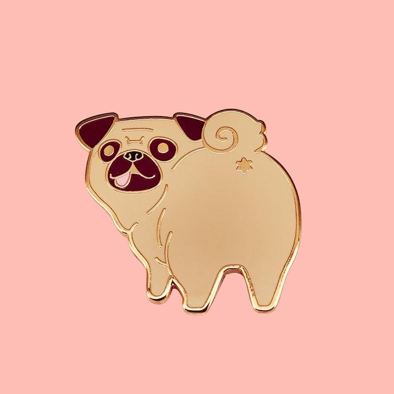 Pug Butt Enamel Pin - Queer In The World: The Store