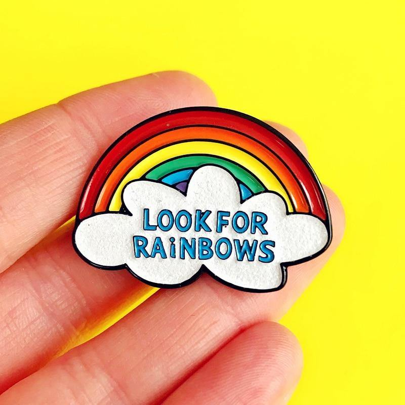 Look for Rainbows Enamel Pin - Queer In The World: The Store