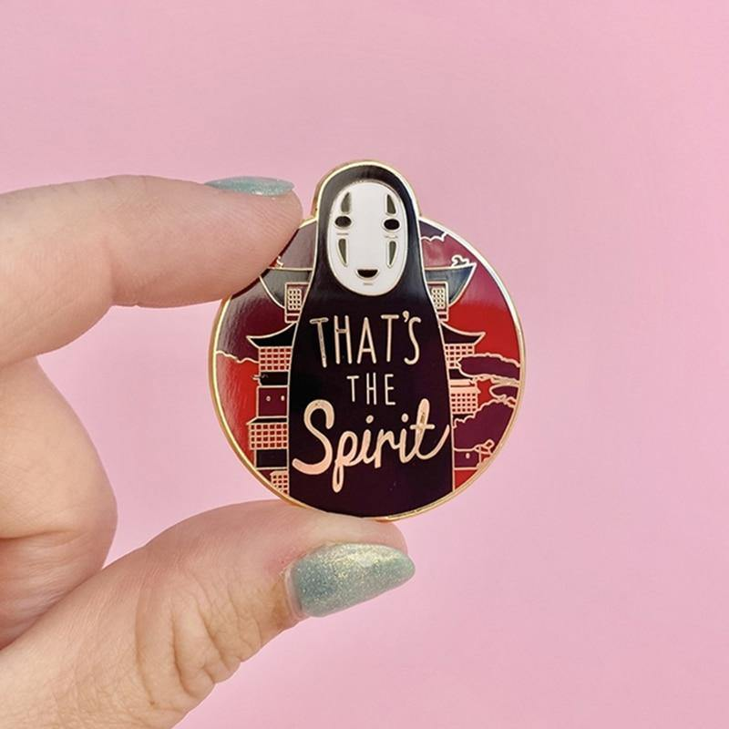 No Face Kaonashi That's the Spirit Enamel Pin - Queer In The World: The Store
