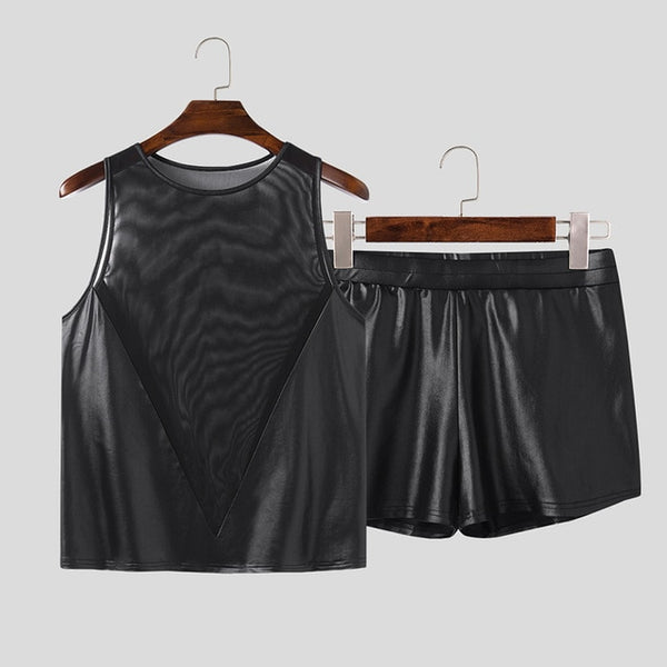 PVC Transparent Sleeveless Top + Shorts (2 Piece Outfit)