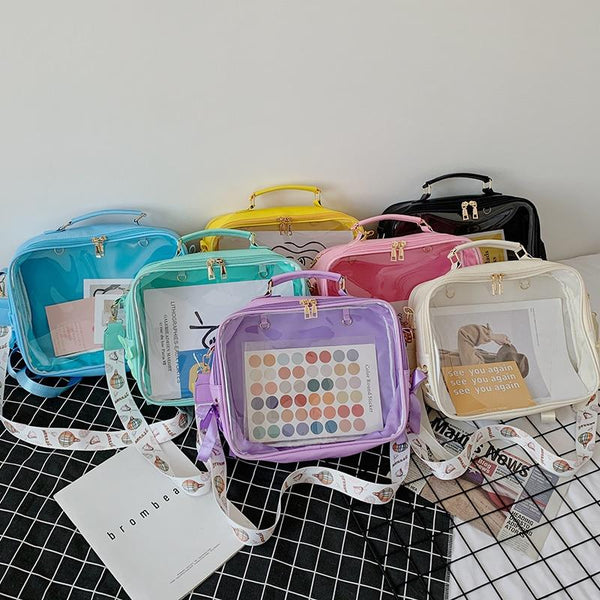 Transparent Pin Display Small Backpack