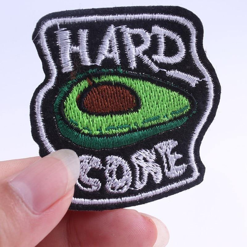 Avocado Hard Core Iron On Embroidered Patch - Queer In The World: The Store