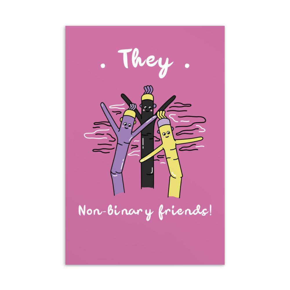 They Non-Binary Friends Postcard - Queer In The World: The Store