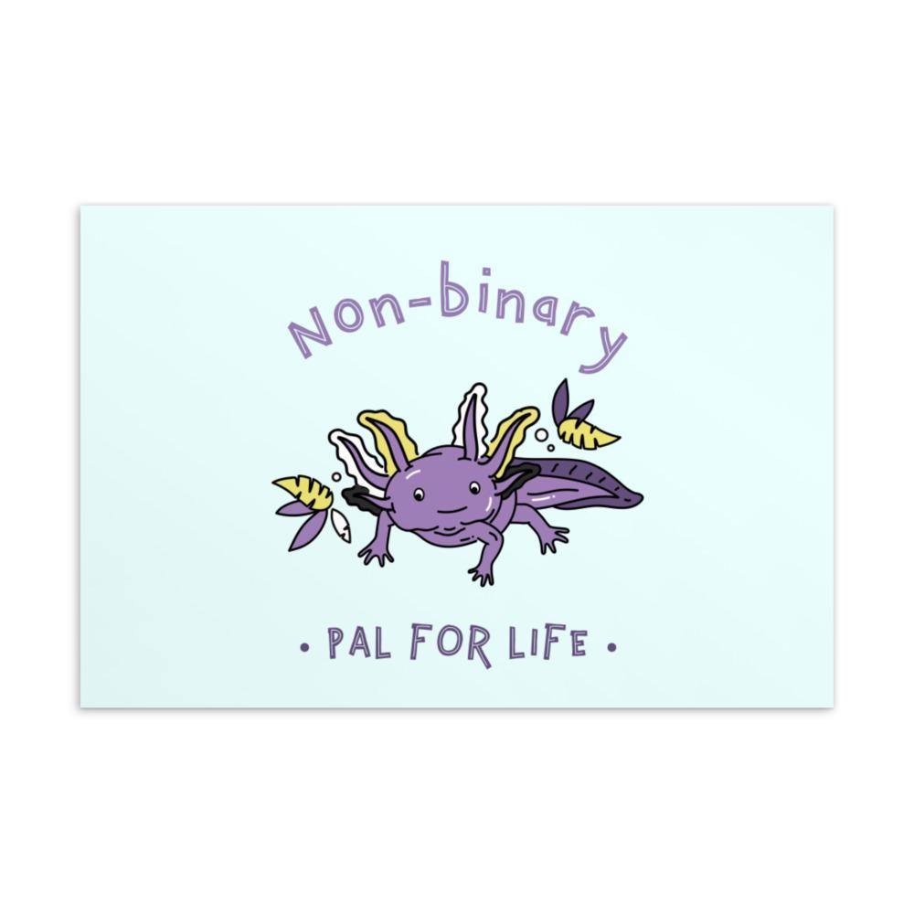 Non-Binary Pal For Life Postcard - Queer In The World: The Store