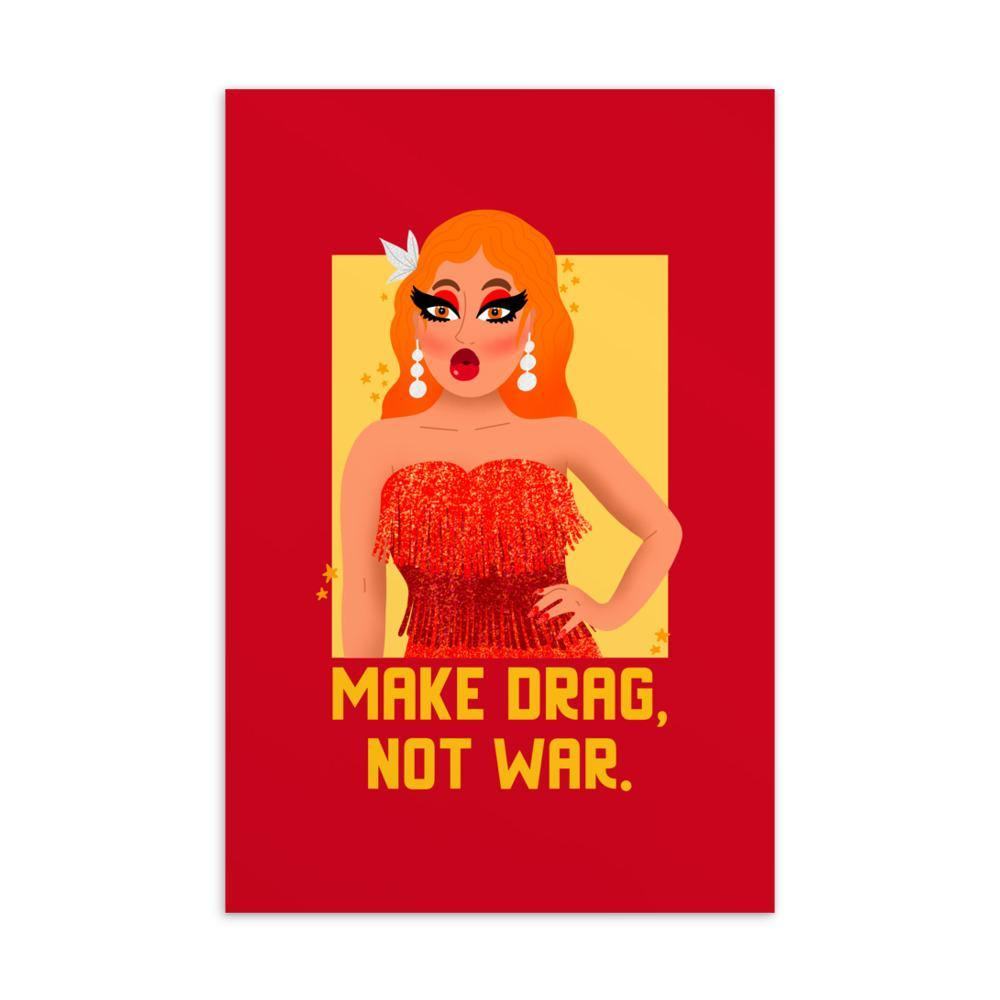 Make Drag Not War Postcard - Queer In The World: The Store