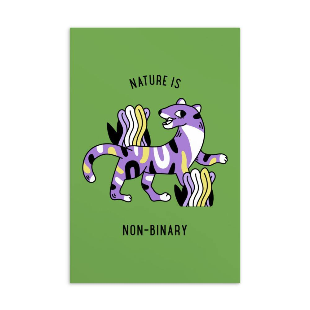 Nature Is Non-Binary Postcard - Queer In The World: The Store