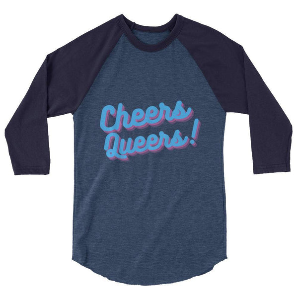 Cheers Queers 3/4 Sleeve Raglan Shirt - Queer In The World: The Store