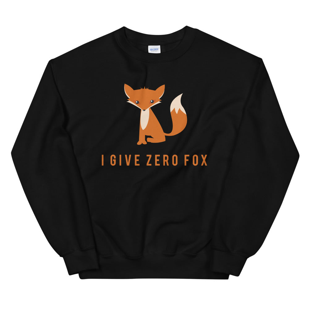 I Give Zero Fox Unisex Sweatshirt