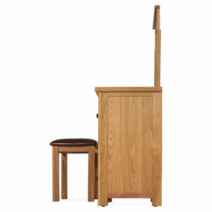 Abbert Oak Dressing Table Set