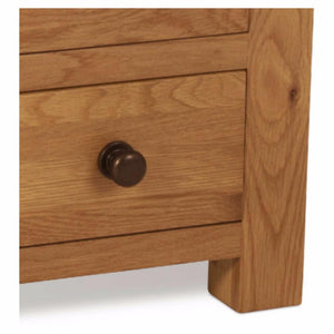 Abbert 3 Drawer Bedside Table