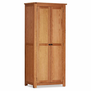 Abbert Oak Double Wardrobe