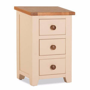 Camaret Oak Ivory Bedside Table