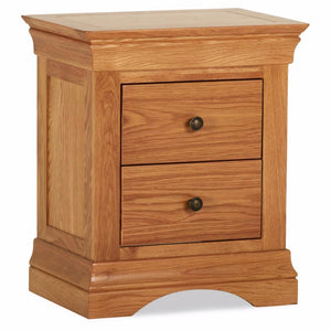 Durant Oak 2 Drawer Bedside Table