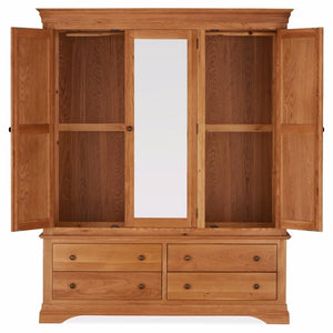 Durant Oak Triple Wardrobe