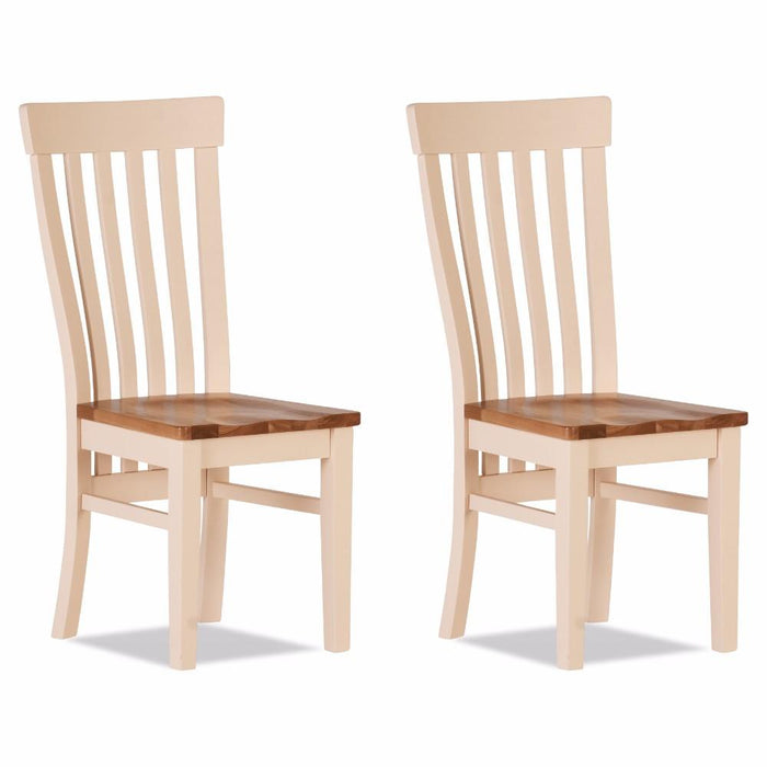 Julia Curved Dining Chair Wooden Seat (Set of 2)