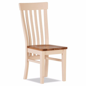 Julia Curved Dining Chair Wooden Seat