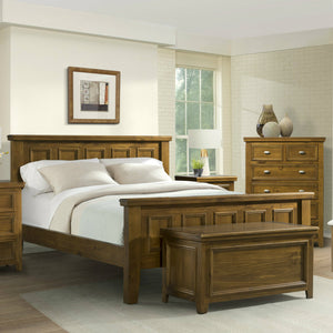 London Double Bed Frame - Dark Wood Tone