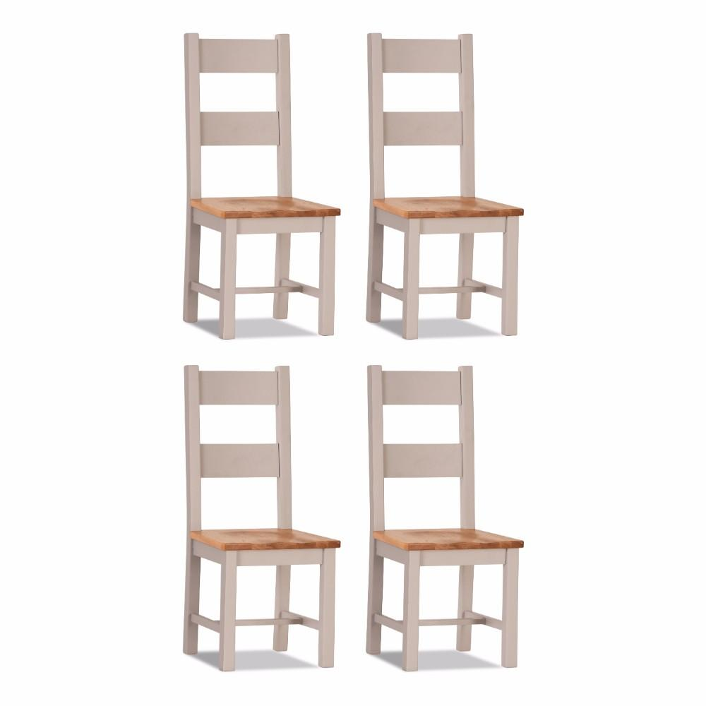 Ventry Dining Chair Wooden seat (set of 4)