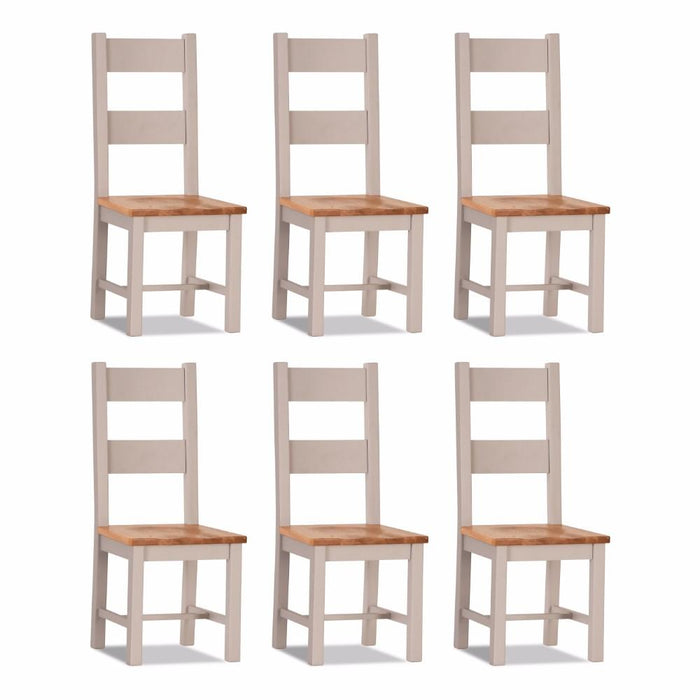 Ventry Dining Chair Wooden seat (set of 6)