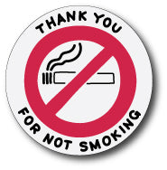 No Smoking Vinyl Decal