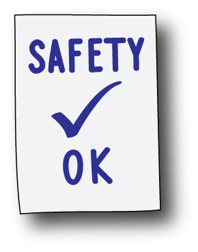 Safety OK Vinyl Decals
