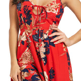 CaliVibes Open Back Cross over Maxi Dress