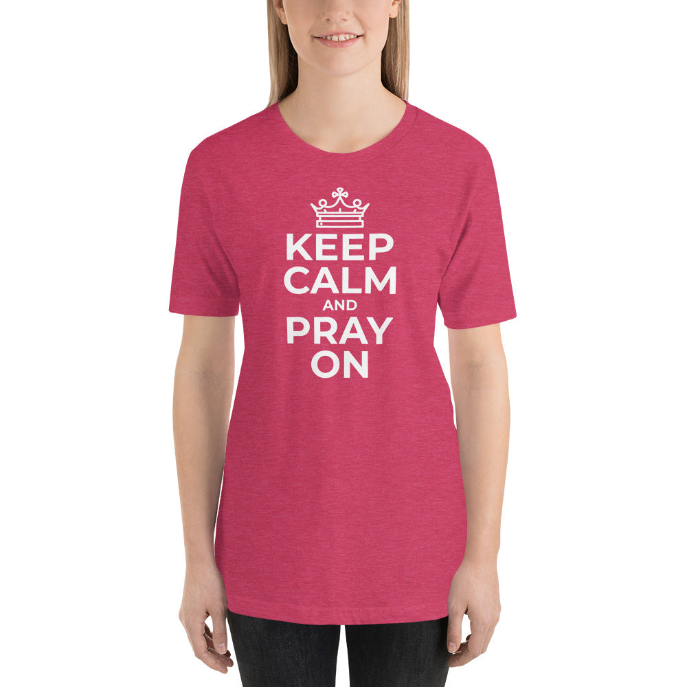 Keep Calm And Pray On Women's Premium T-Shirt