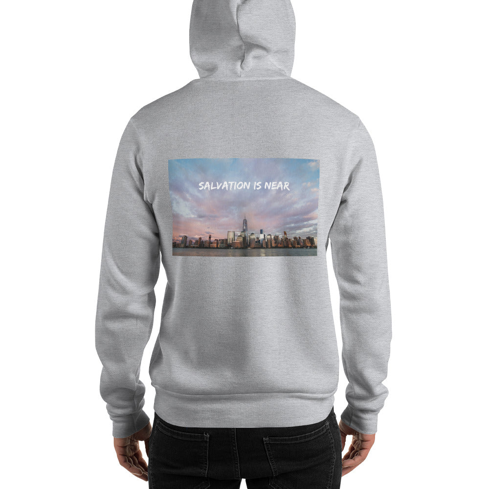 Salvation Is Near Men's Hooded Sweatshirt