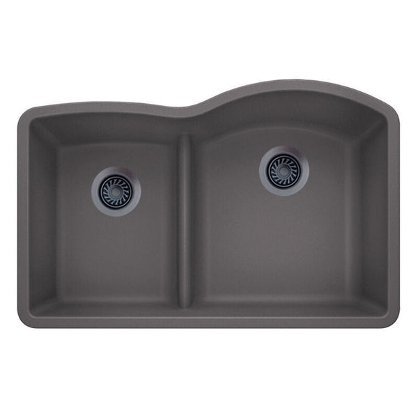 "32 X 20-7/8"" Double Bowl 60/40 Offset Low Divide Undermount"