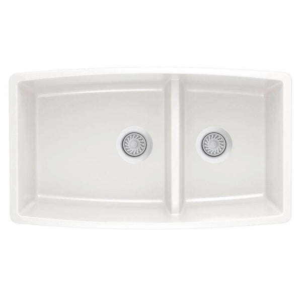 "33 X 19"" Double Bowl 60/40 Low Divide Undermount"