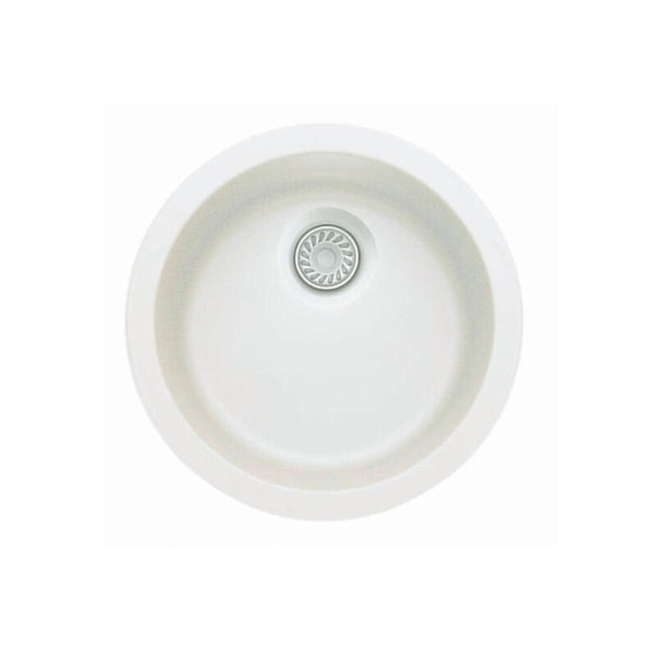 "17-11/16 X 6-5/8"" Round Single Bowl Dual Mount"