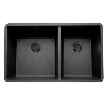 "33 X 18"" Double Bowl 60/40 Undermount"