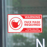 "8"" Face Mask Required Decal"