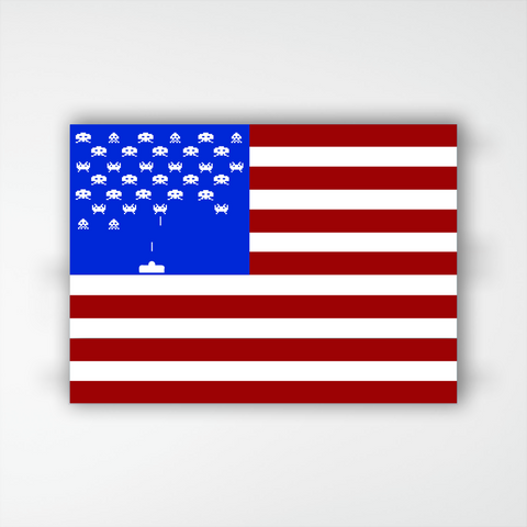 American Flag Space Invaders