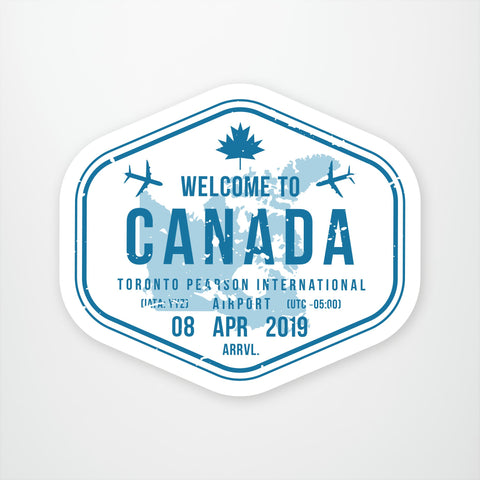 Canada Travel Stamp
