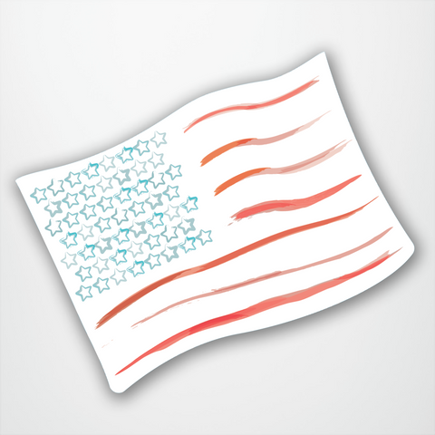 Watercolour American Flag