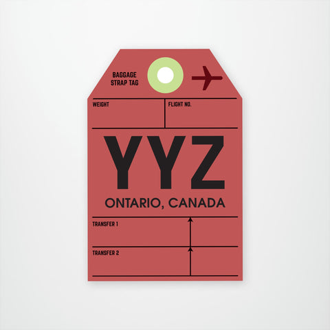 YYZ Luggage Tag
