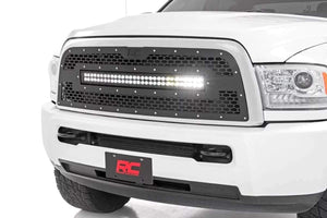DODGE MESH GRILLE W/30IN DUAL ROW BLACK SERIES LED (13-19 RAM 2500/3500)