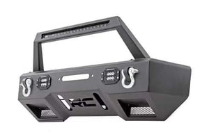 JEEP FRONT STUBBY LED WINCH BUMPER | BLACK SERIES (18-19 WRANGLER JL)