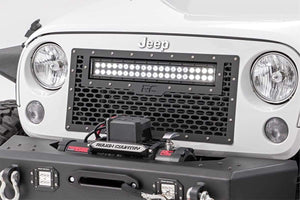 JEEP MESH GRILLE W/20IN LED LIGHT BAR (07-18 WRANGLER JK)