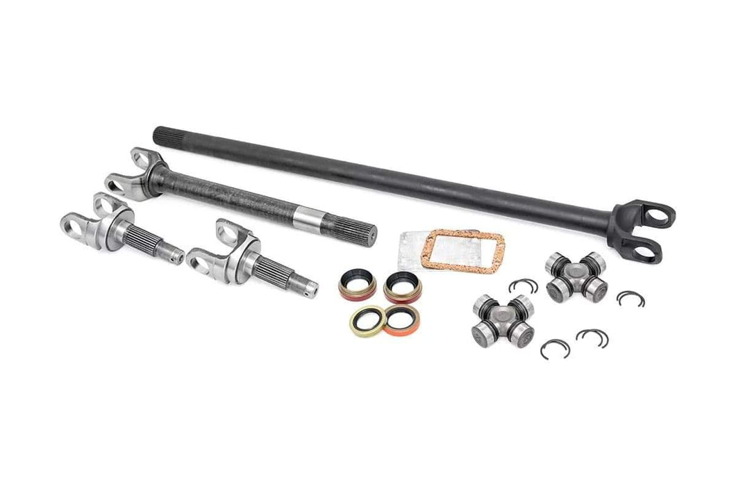 4340 CHROMOLY REPLACEMENT FRONT AXLE KIT W/ SPICER 1310 U-JOINTS - DANA 30, 27 SPLINE (07-18 WRANGLER JK)