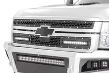 Load image into Gallery viewer, CHEVY MESH GRILLE W/ DUAL 12IN BLACK SERIES LEDS (11-14 SILVERADO HD)