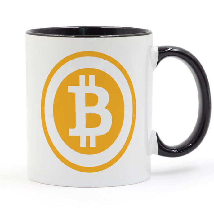 Bitcoin Mug Coffee Milk Ceramic Cup Creative DIY Gifts Home Decor Mugs 11oz GA677