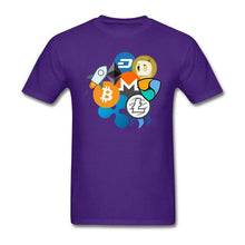 Load image into Gallery viewer, Bitcoin Ripple Ethereum Litecoin NEM Dash Monero Stellar Lumens Steem T-Shirt